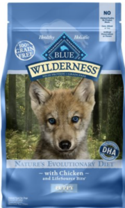 Thức ăn cho Husky nhỏ Blue Bufalo Wilderness Puppy Chicken Recipe Grain-Free Dry Dog Food