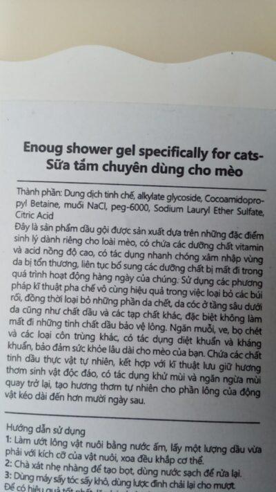 Thành phần dưỡng chất của sữa tắm mèo SOS