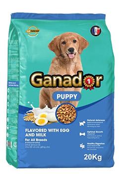Thức ăn cho chó con vị sữa Ganador