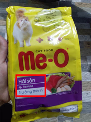 Thức ăn cho mèo Me-O tiếng việt -1