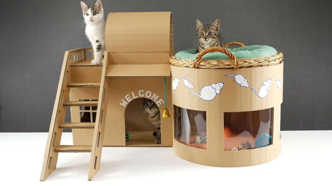 Mẫu nhà thùng giấy cho mèo 2