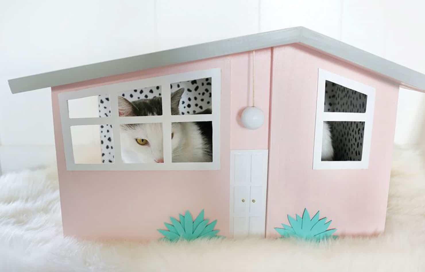 Mẫu nhà thùng giấy cho mèo 4