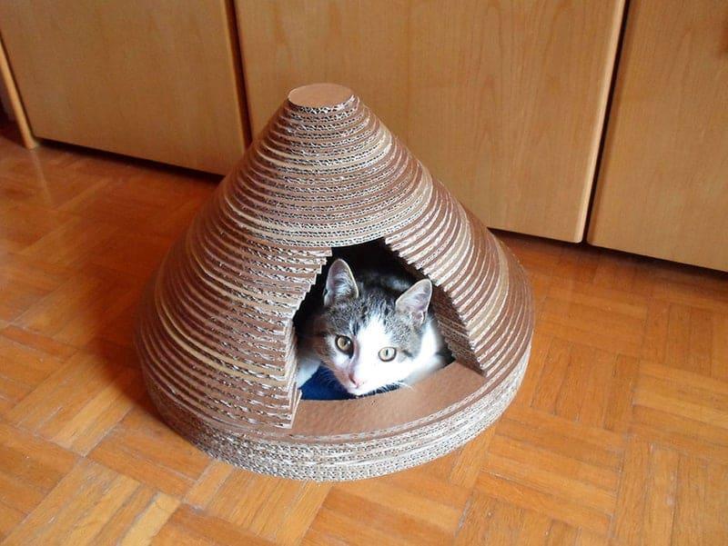 Mẫu nhà thùng giấy cho mèo 7